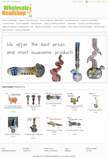 Wholesale Headshop