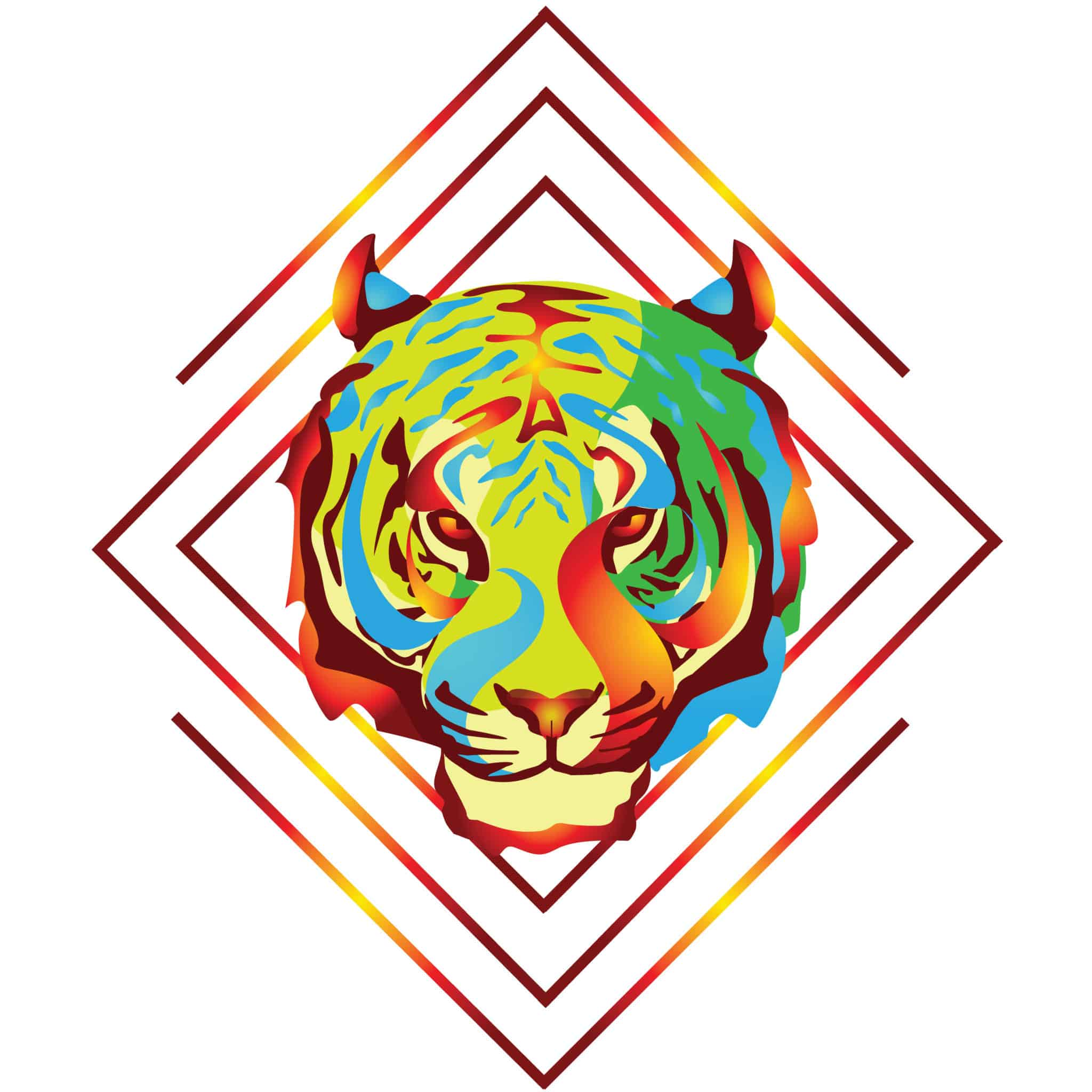 Fire tiger design for Graphic designs for t shirts