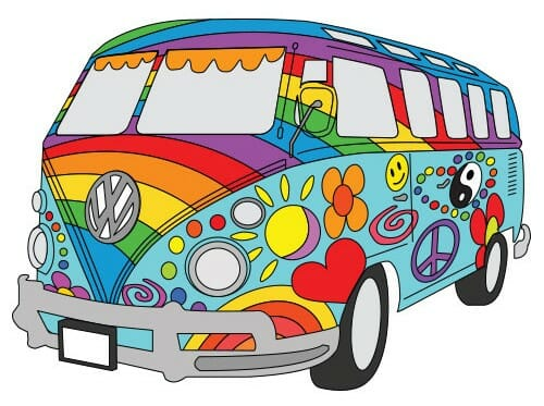 Painted VW Van