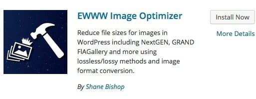 WordPress ewww image optimizer