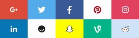 social media branding logos